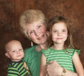 Susan with her Grandchildren