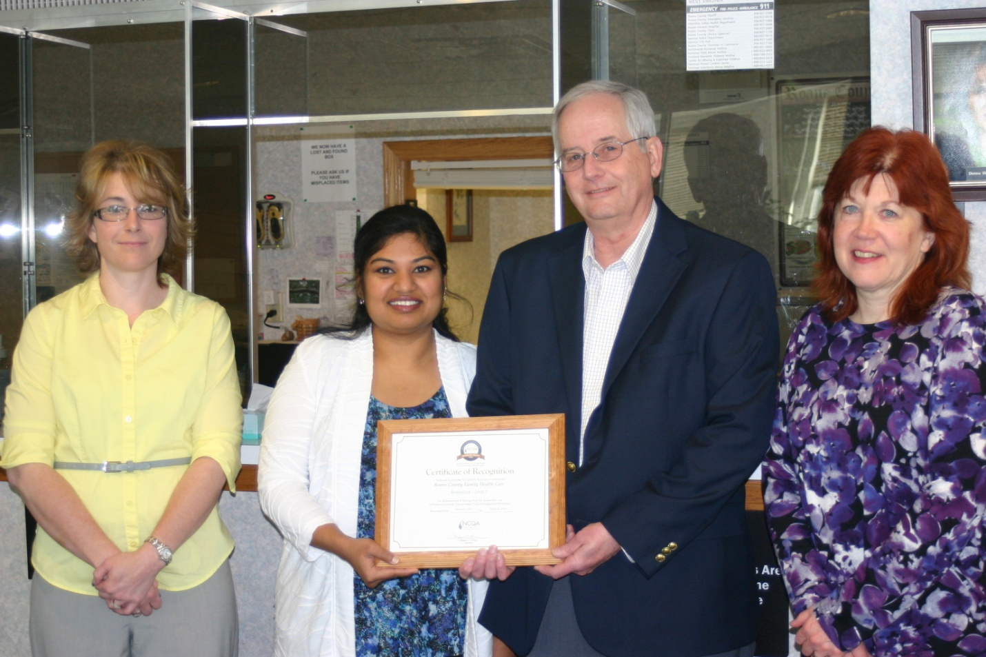 RCFHC Receives Recognition from the PCMH Program