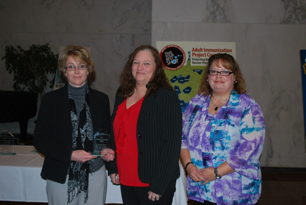 Accepting the 2014 Immunization Award